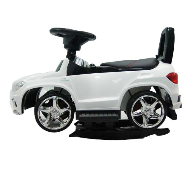 4 in 1 Mercedes Push Car White Best Ride On Cars Baby 4 in 1 Mercedes Push Vehicle, Stroller, & Rocker, White 8