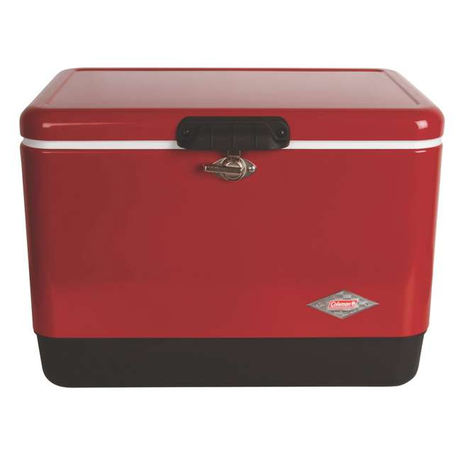 4 x A-3000003539-W Coleman 54-Quart Steel Belted Ice Cooler, Red (4 Pack) 1