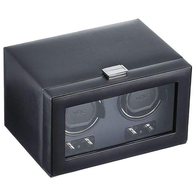 270102 WOLF 270102 Heritage Compact Electric Double Watch Winder Case with Cover, Black