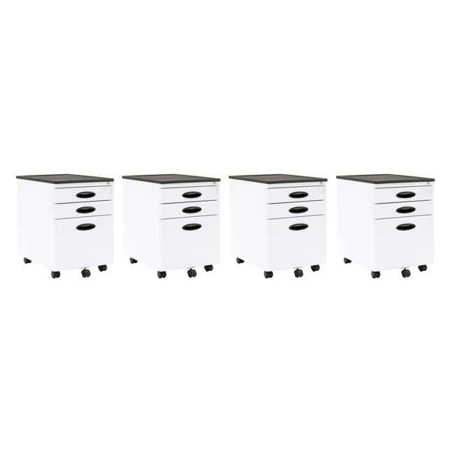 4 x STDN-51103BOX Calico Designs Office Storage Mobile File Cabinet (4 Pack)