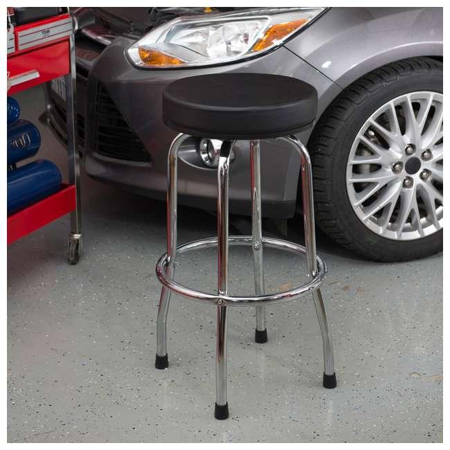 TOR-TRP6185 Torin Big Red Swivel Garage/Shop/Bar Stool, Black (Open Box) (2 Pack) 1