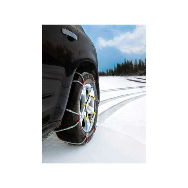 SZ441-U-A Super Z 6 Compact Cable Tire Snow Chain Set for Cars, Trucks, & SUVs (Open Box) 4