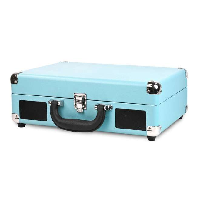 VSC-550BT-TQ Victrola 3-Speed Bluetooth Suitcase Record Player, Turquoise 1