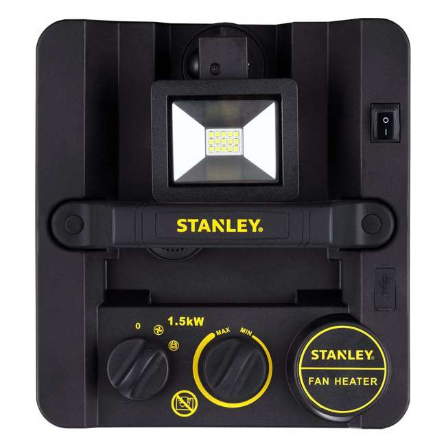 ST-400LED-120 Stanley ST-400LED-120 1500W Heavy Duty Heater with LED Light and USB, Yellow 3