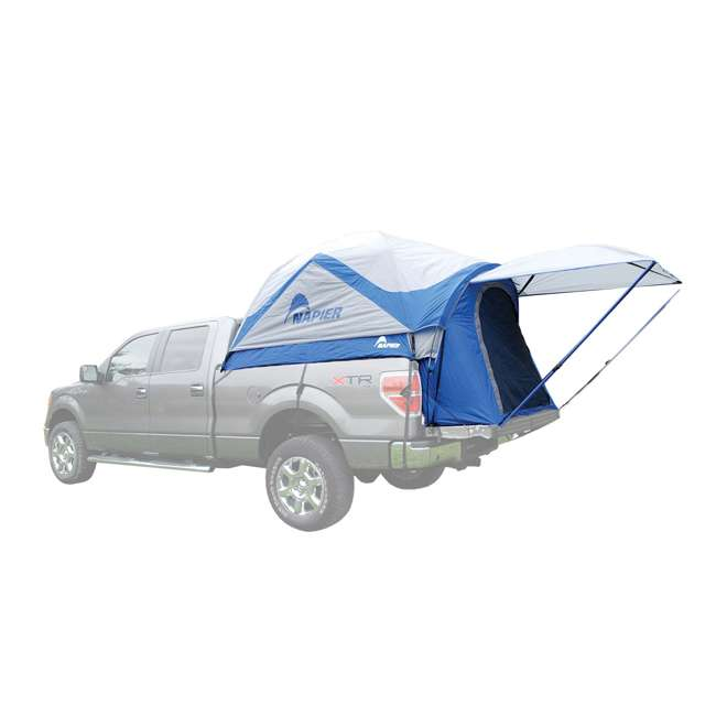 57011-U-B Napier Sportz 8.2 Ft. Easy Setup Full Size Long Truck Bed Tent, Blue/Gray (Used)