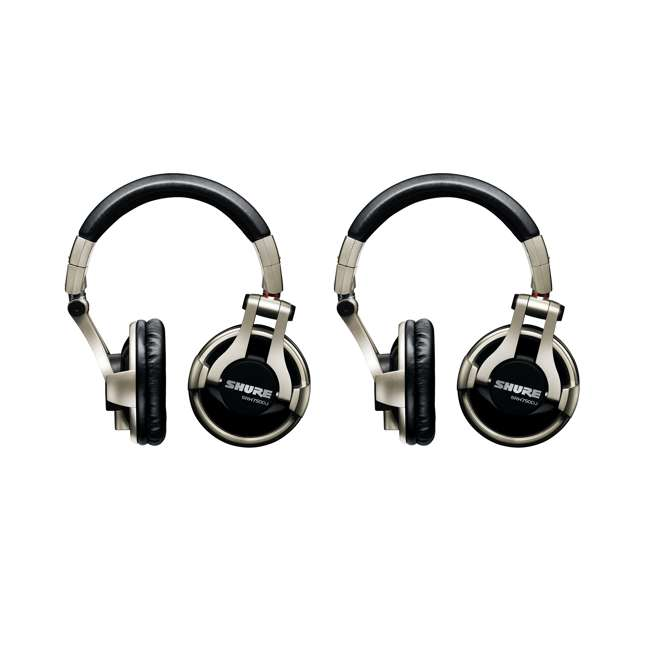SRH750DJ Shure Professional Studio Recording Headphones (2 Pack)