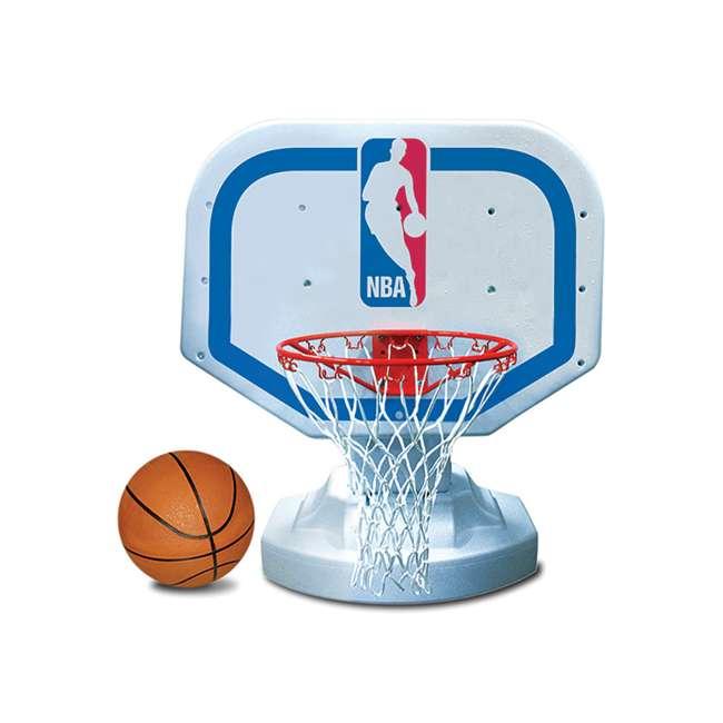 72900 Poolmaster Poolside NBA Basketball Hoop and Nylon Basketball