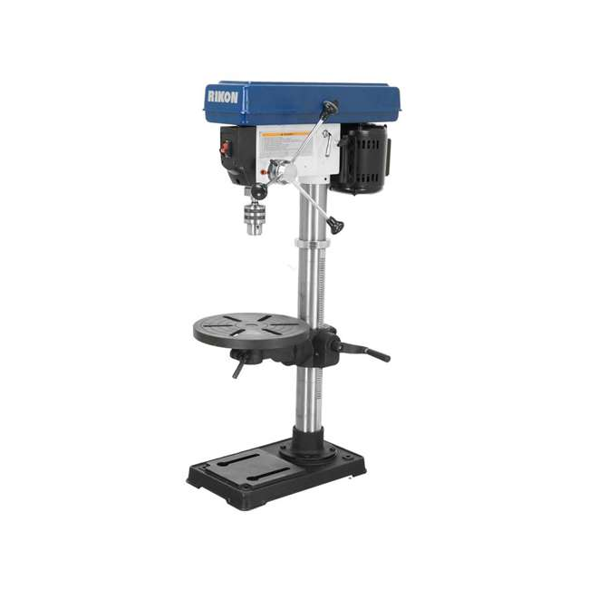 30-120 RIKON 30-120 13 Inch 7.5 Amp Benchtop Drill Press with Cast Iron Table, Blue