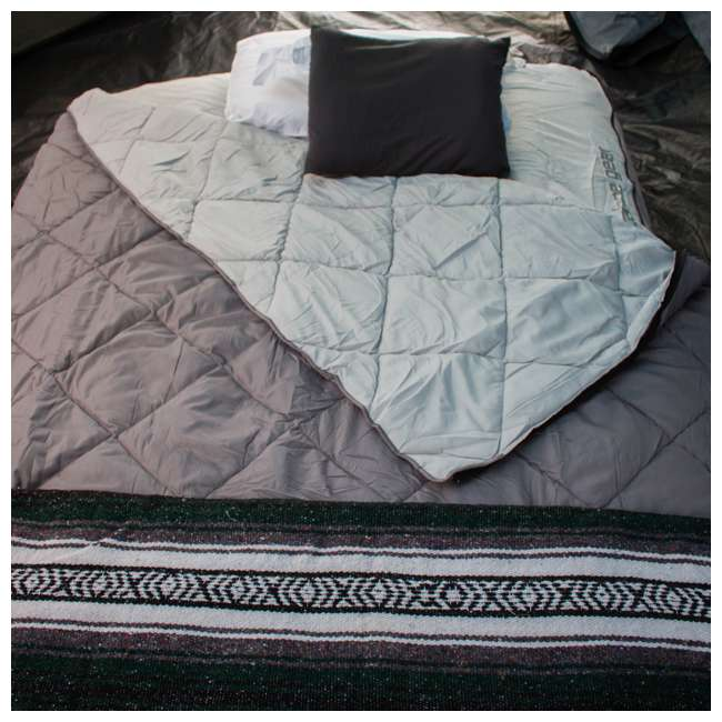 TGT-BEDKIT-2 Tahoe Gear Queen Size Quilted Fitted Sheet Cover & Blanket for Air Mattresses 7