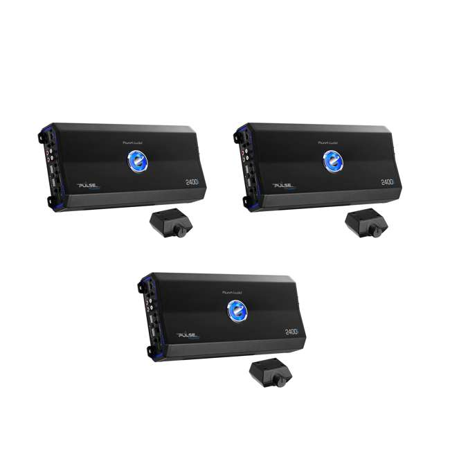 3 x PL2400.4 Planet Audio 2400W 4 Channel Full Range Class A/B Amplifier  (3 Pack)
