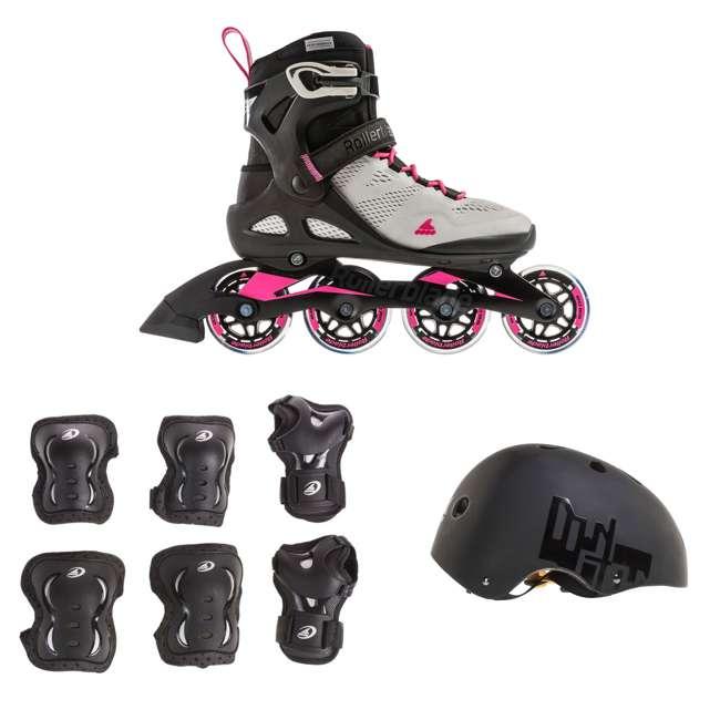 7955300500-6 + 06320200001-M + 067H0310800-L Rollerblade USA Women's Size 6 Rollerblades + Pads + Helmet