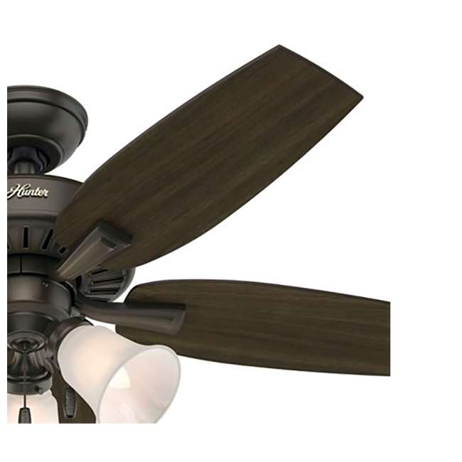 52116 Hunter 52116 Atkinson 46 Inch 4 Blades Indoor Ceiling Fan with Light, Bronze 3