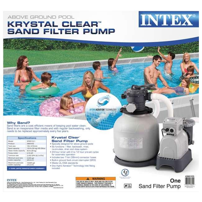 28651EG Intex Krystal Clear 3,000 GPH Above Ground Pool Sand Filter Pump 1