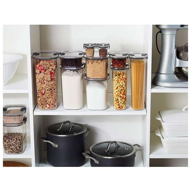 1994254 Rubbermaid Brilliance 10 Piece Plastic Food Storage Container Set w/ Lids, Clear 2