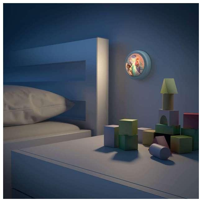 PLC-7192408U0 + PLC-7175101U0 Philips Disney Frozen Push Touch Night Light w/ Philips Disney Frozen Lampshade 3