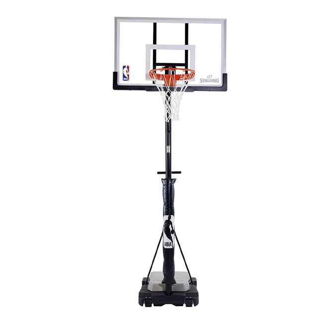 """E70983 Spalding 50"""" Acrylic Ultimate Hybrid Jr. Portable Basketball Hoop"""