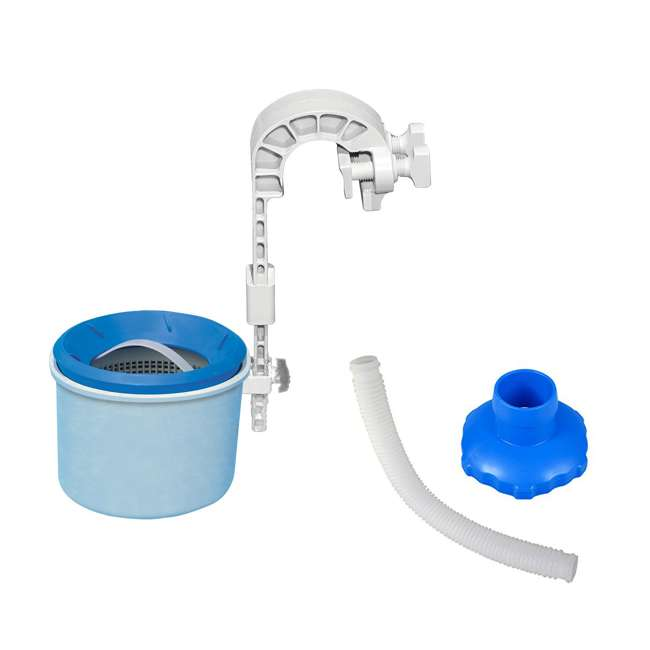 28000E + 25016 Intex Deluxe Wall Mount Pool Surface Skimmer and Skimmer Hose and Adapter