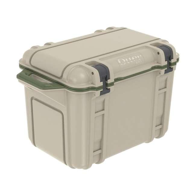 77-54463 Otterbox Venture Heavy Duty Outdoor Camping Fishing Cooler 45-Quarts, Tan/Green 1