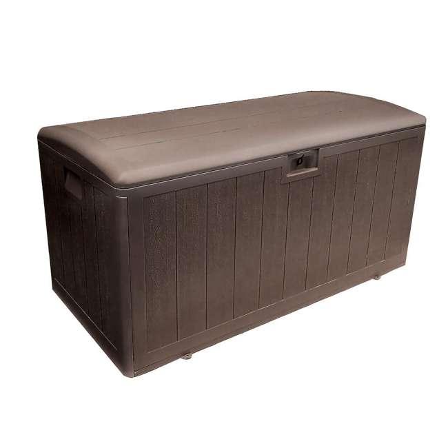 HDEDB105WLJ-GS Plastic Development Group 105-Gallon Deck Box with Gas Shock Lid, Java Brown