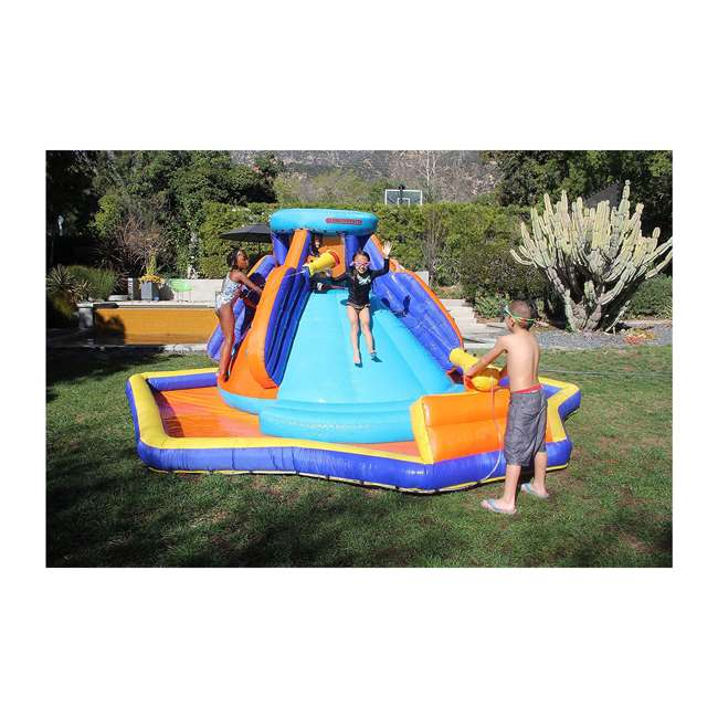 INF-1811  Battle Ridge Water Slide Inflatable with Water Cannons 1