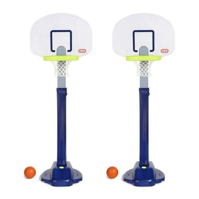638206M Little Tikes Adjust 'n Jam Pro Basketball Hoop Toy  (2 Pack)
