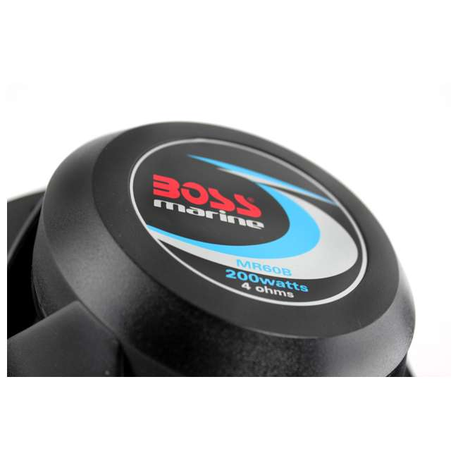"MR60B Boss 6.5"" 2-Way 200 Watt Marine Speakers - Black (Pair) 