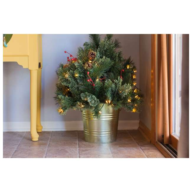 TV22M3M26L02 Home Heritage 26 Inch Artificial Holiday Shrub with LED Lights (2 Pack) 4