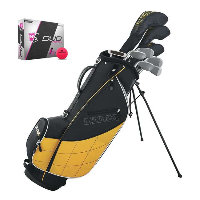 WGGC43000 + WGWP43500 Wilson Ultra Mens Complete Right Handed Golf Club Bag Set & Balls