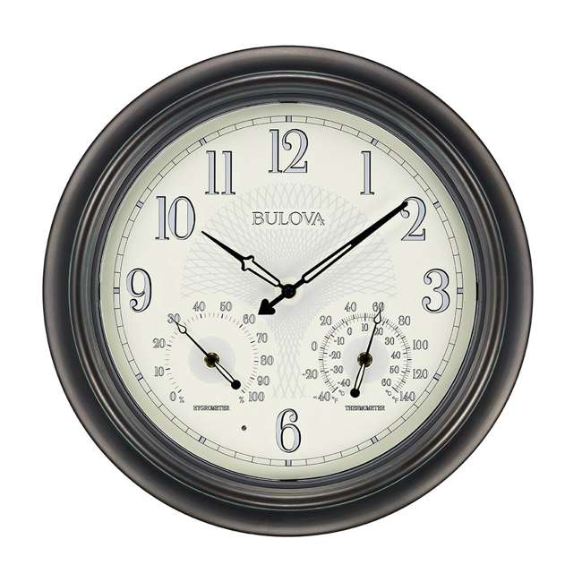 C4813 Bulova Clocks C4813 Weather Master Outdoor Thermometer and Hygrometer Wall Clock