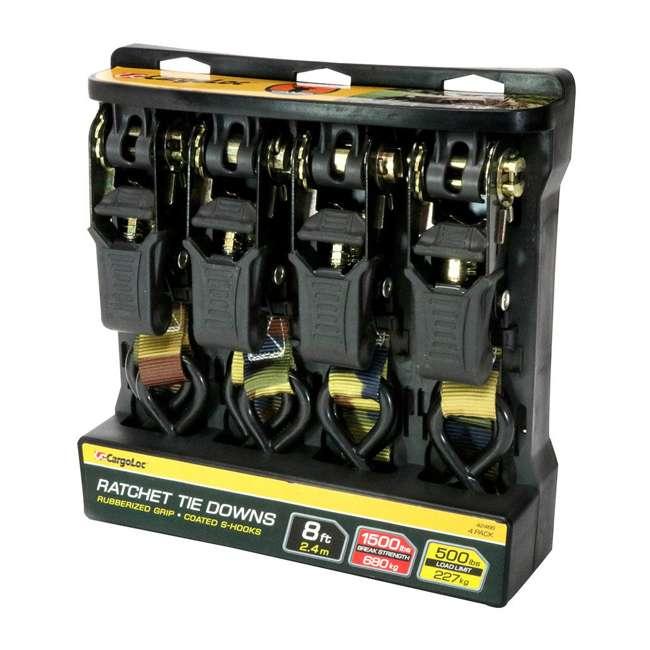 42466 CargoLoc 1 In x 8 Ft 500 LB Capacity Premium Ratchet Tie Down Straps, 4 Pack