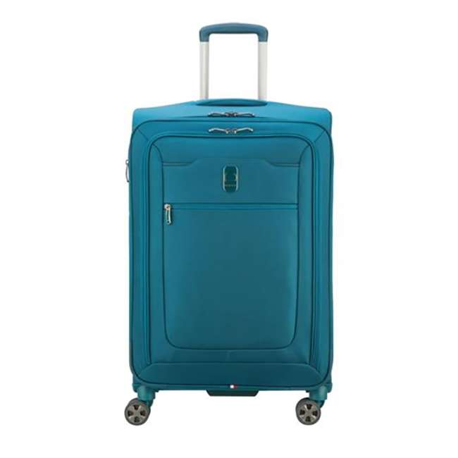 """40229182032 DELSEY Paris 25"""" Expandable Spinner Upright Hyperglide Luggage Suitcase, Teal"""