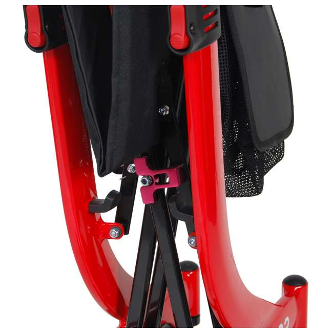 RTL10266-T Drive Medical Nitro Euro Style Tall Height Rollator Walker, Red 4