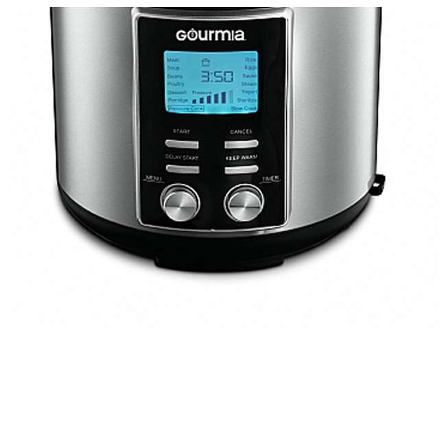 GPC655 Gourmia ExpressPot 6 Quart Stainless Steel 14 Program Pressure Cooker, Black 3