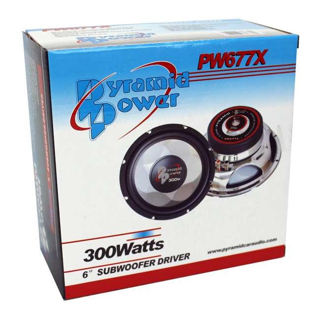 PW677X Pyramid PW677X 6 Inch 300 Watt 4 Ohm Car Audio Power Audio Sub Subwoofer Woofer 4