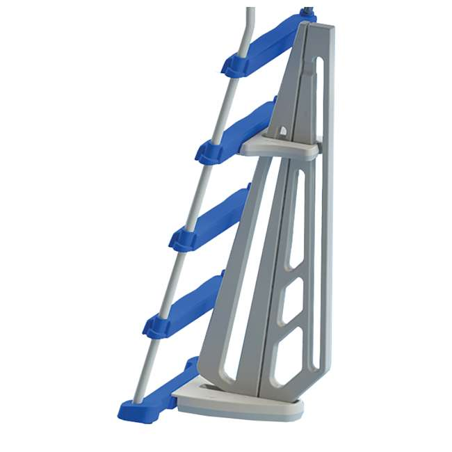 87950 + 87953 Swimline 48 Inch Pool Ladder with 9x36-Inch Vinyl Protective Pool Ladder Mat 4