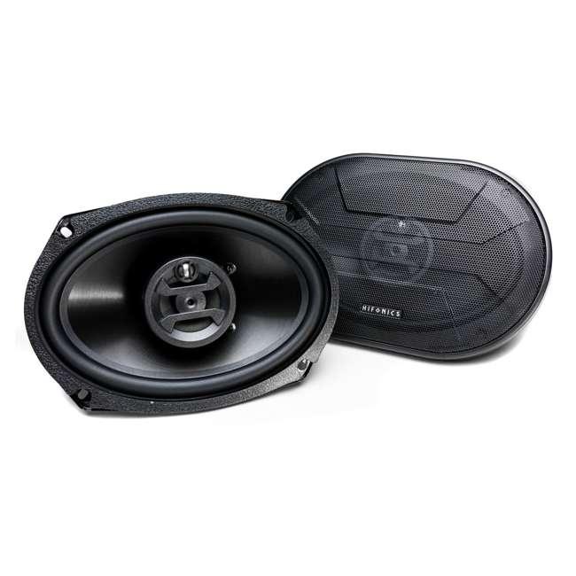 ZS-693-U-B Hifonics Zeus 800 Watt 6 x 9 Inch 3 Way Car Audio Coaxial Speakers Pair (Used)