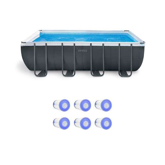 26355EH + 6 x 29000E Intex 18 Foot Pool with Filter Cartridges (6 Pack)