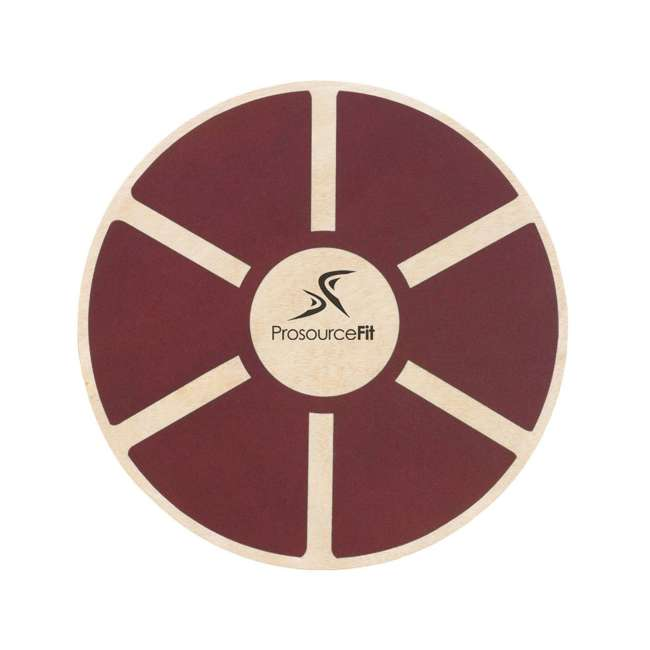 ps-1088-wbb-red Prosource Fit 1088 Round Wooden Gym Exercise Fitness Balance Wobble Board, Red
