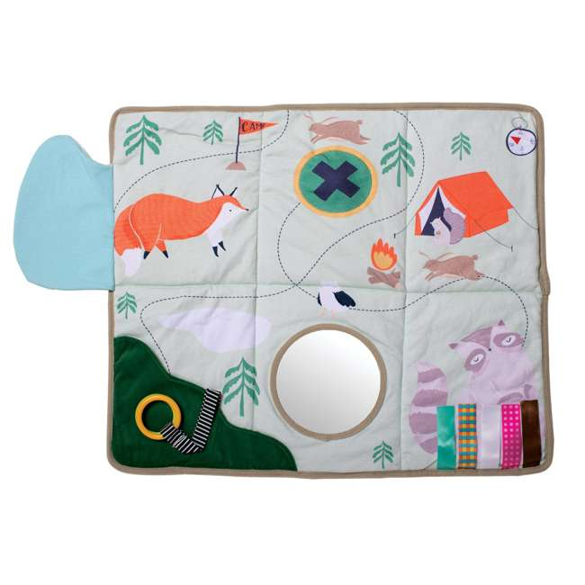 215530 Manhattan Toy Company Camp Acorn Sensory Baby Toy Activity Play Mat w/ Mirror 4