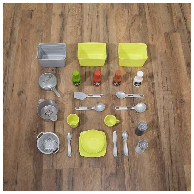 482600 Step2 Downtown Delights Pretend Play Toy Kitchen Set 4