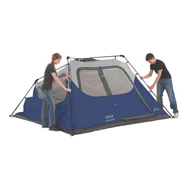 2000024350 Coleman 6-Person Instant Cabin Family Camping Tent With Rainfly 4