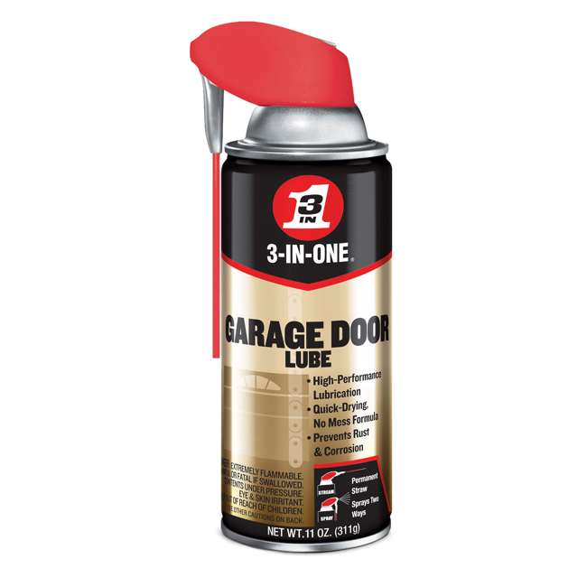 WD-100581 3-IN-ONE Professional Garage Door Lubricant Spray with Smart Straw, 11 Ounce