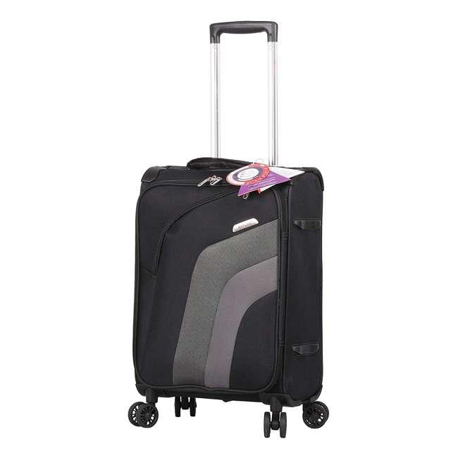 AERO9427 21 + FB9427 BLACK FBA Aerolite Ultra Lightweight Airline Approved Carryon & Under-Seat Suitcase, Black 1