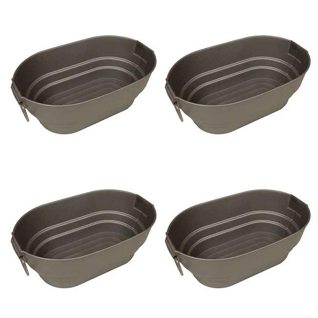 4 x 22822SL-6 Contico Silver Finish Faux Galvanized Tub, 28 Quarts (4 Pack)