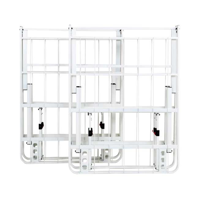 VMI-18QIB2-112-WT-U-A intelliBASE Bi-Fold Platform White Metal Bed Frame, Queen  6