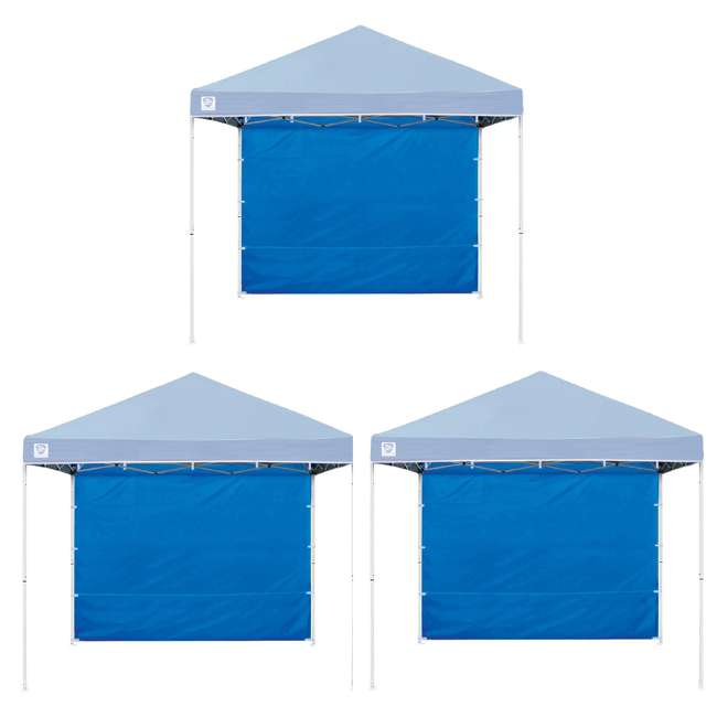 3 x ZS10EVRTSWBL Z Shade 10ft Blue Everest Instant Canopy Tent Taffeta Sidewall Accessory(3 Pack)