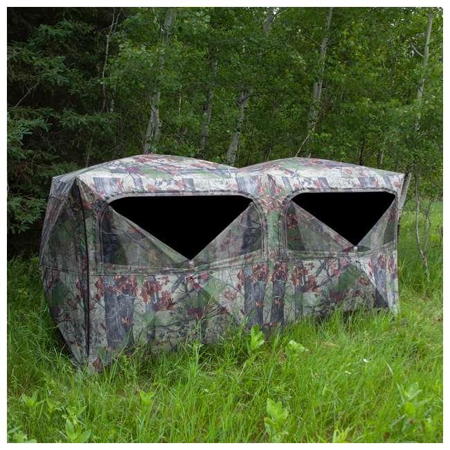 BARR-BE650BW Barronett Blinds BE650BW Big Beast Backwoods Double Wide Hub Hunting Blind, Camo 3