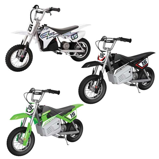 15128008 + 15128099 + 15128030 Razor MX400 Dirt Rocket 24V Electric Toy Motocross Motorcycle Dirt Bike (3 Pack)