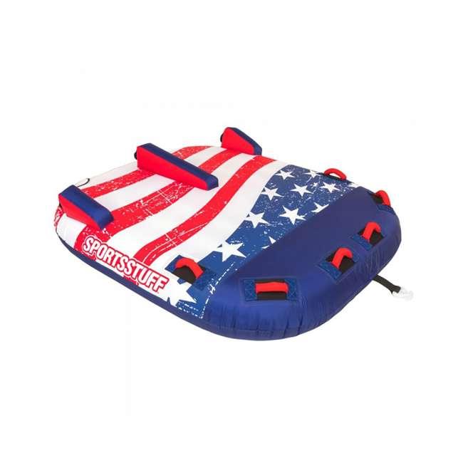 53-4312 SportsStuff Stars & Stripes 2 Rider Towable Inflatable Tube 4