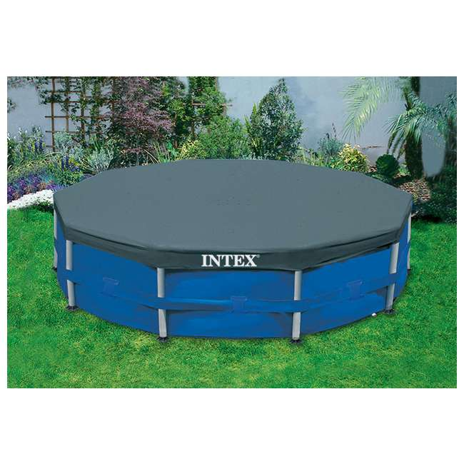 26701EH + 28030E Intex 10 Foot x 30 Inches Pool w/ 10-Foot Round Cover 8